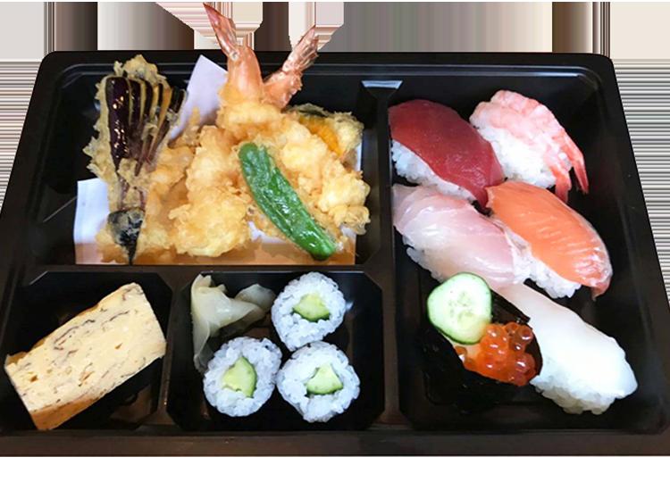天ぷら寿司弁当 1,350円